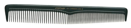 Haarschneidekamm,leichte         Schrägung, 401 Carbon Profi Line