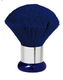 Nackenwedel Jumbo blau Silberring