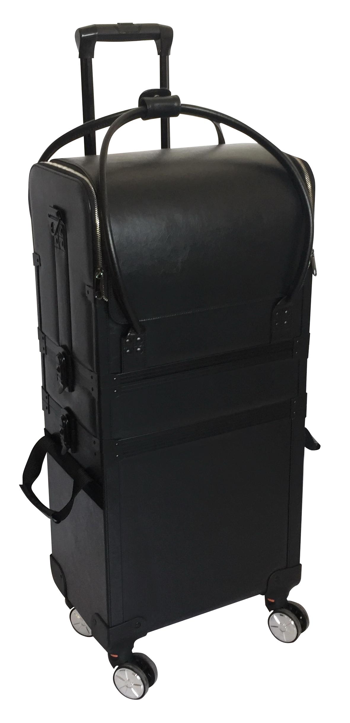 WZK Duo, sz 36x23,5x75cm auf Rollen m. abnehmb. Tasche Werkzeugkoffer Alu