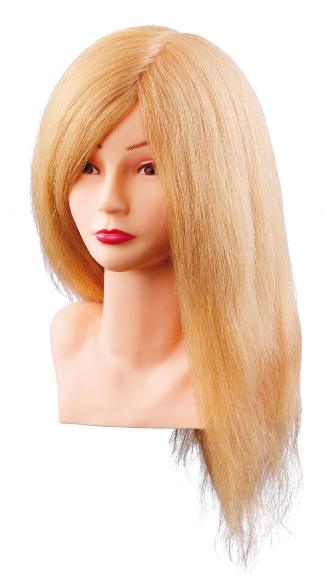 Üb.kopf Louisa 40cm blond Echthaar m. Büste Übungskopf