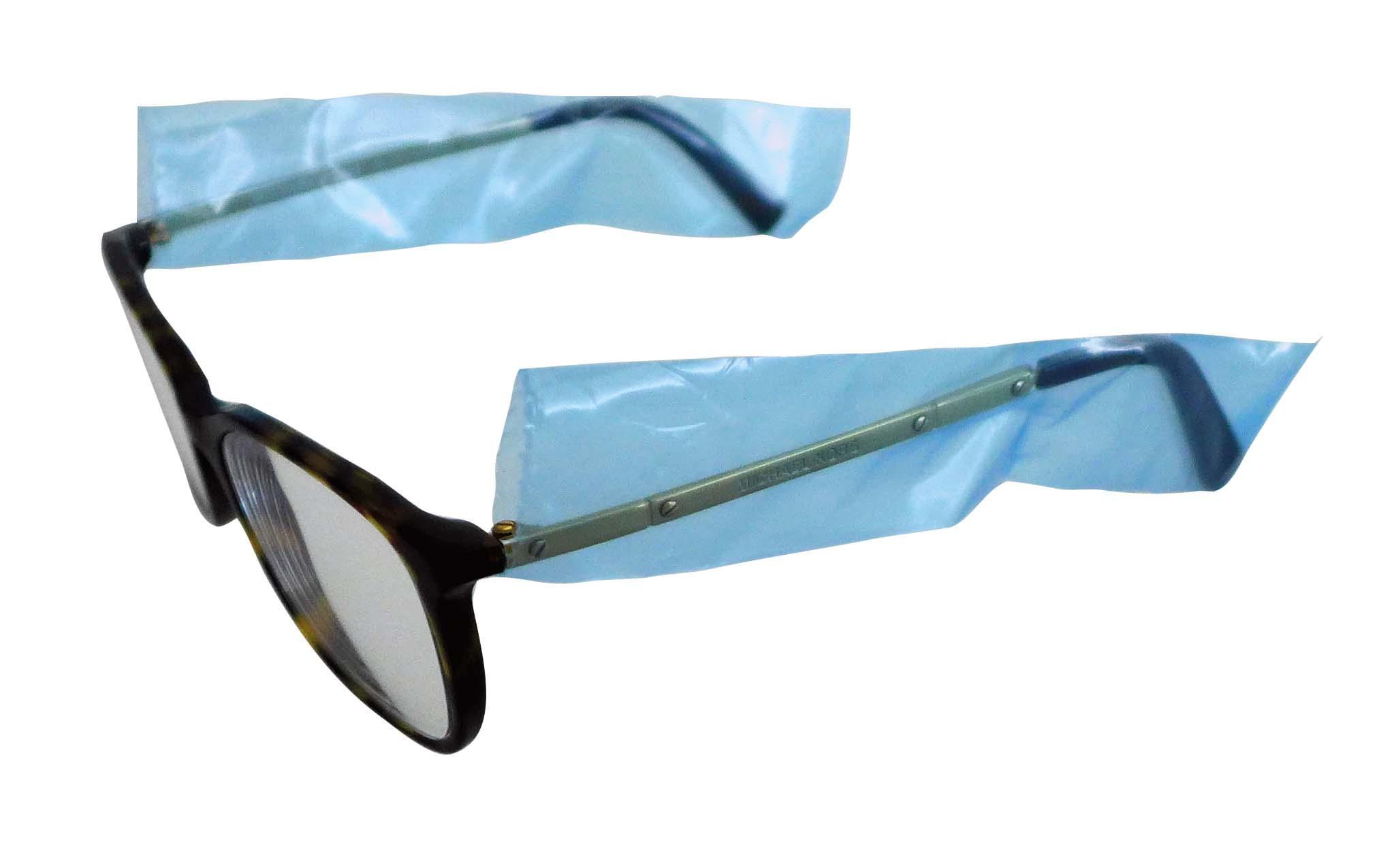 Cover Brillenbügel Schutzhüllen,  Box mit 200 Stück auf Rolle