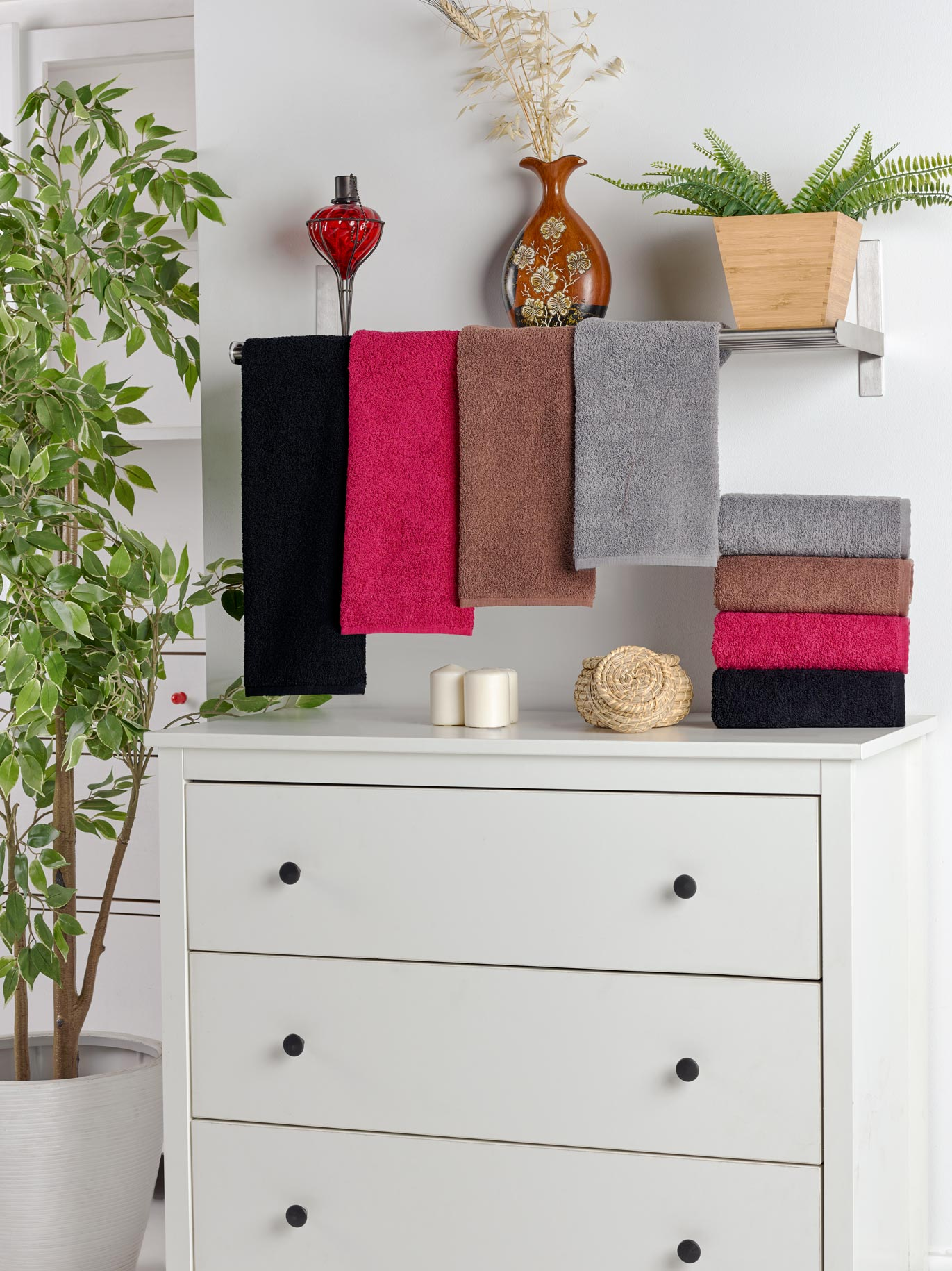 10er Pack Handtücher Standard reaktiv 100% Baumwolle 50 x 90 cm