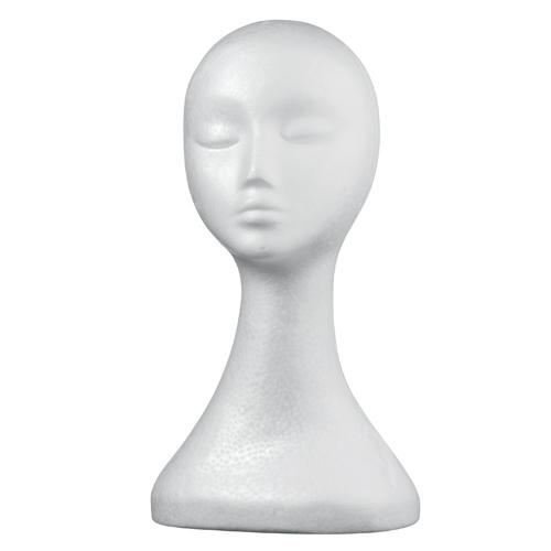 Schaumstoffkopfbüste Lady weiß 38cm