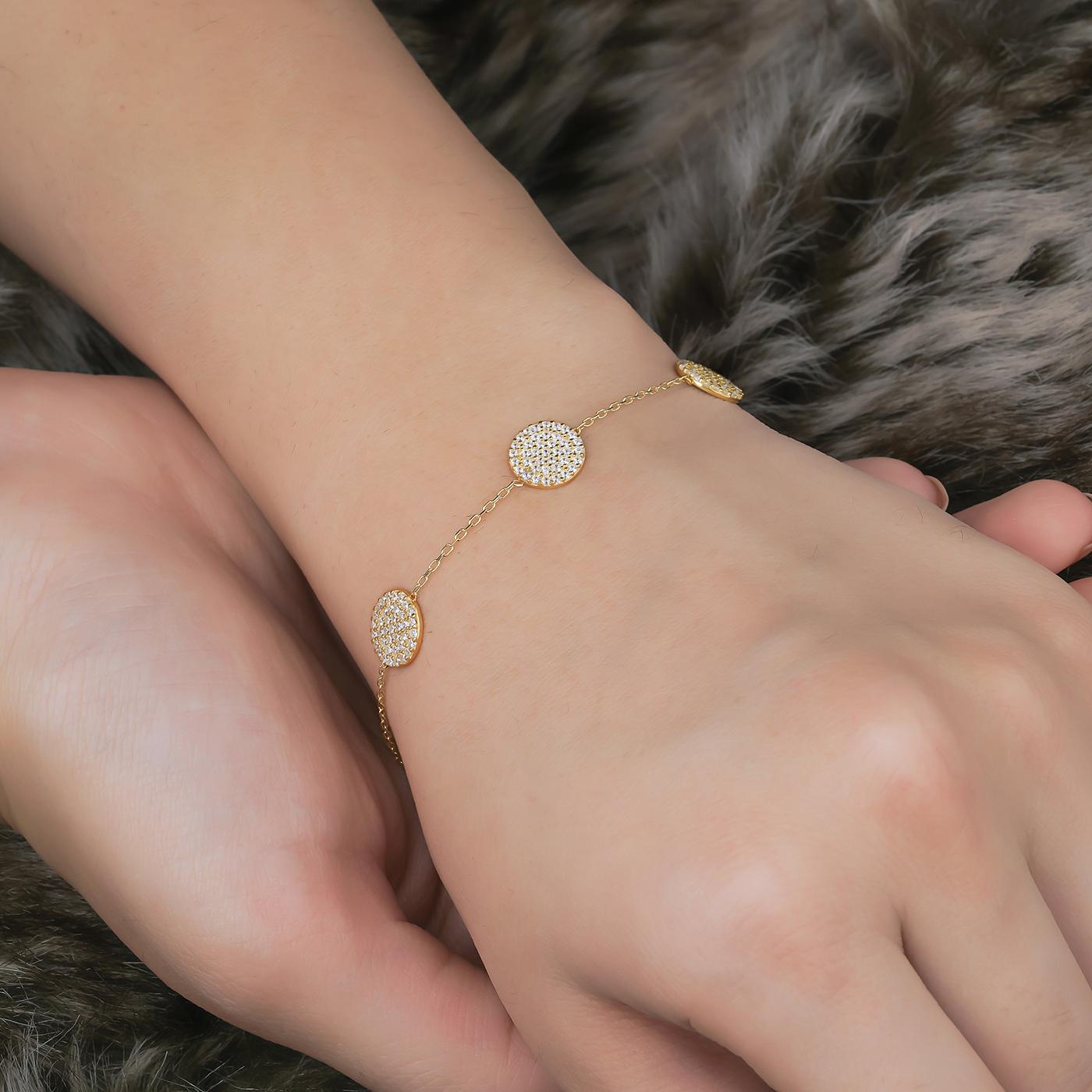 ALMIRA 925 Sterling Silber Damen Armband Silberschmuck Zirkonia