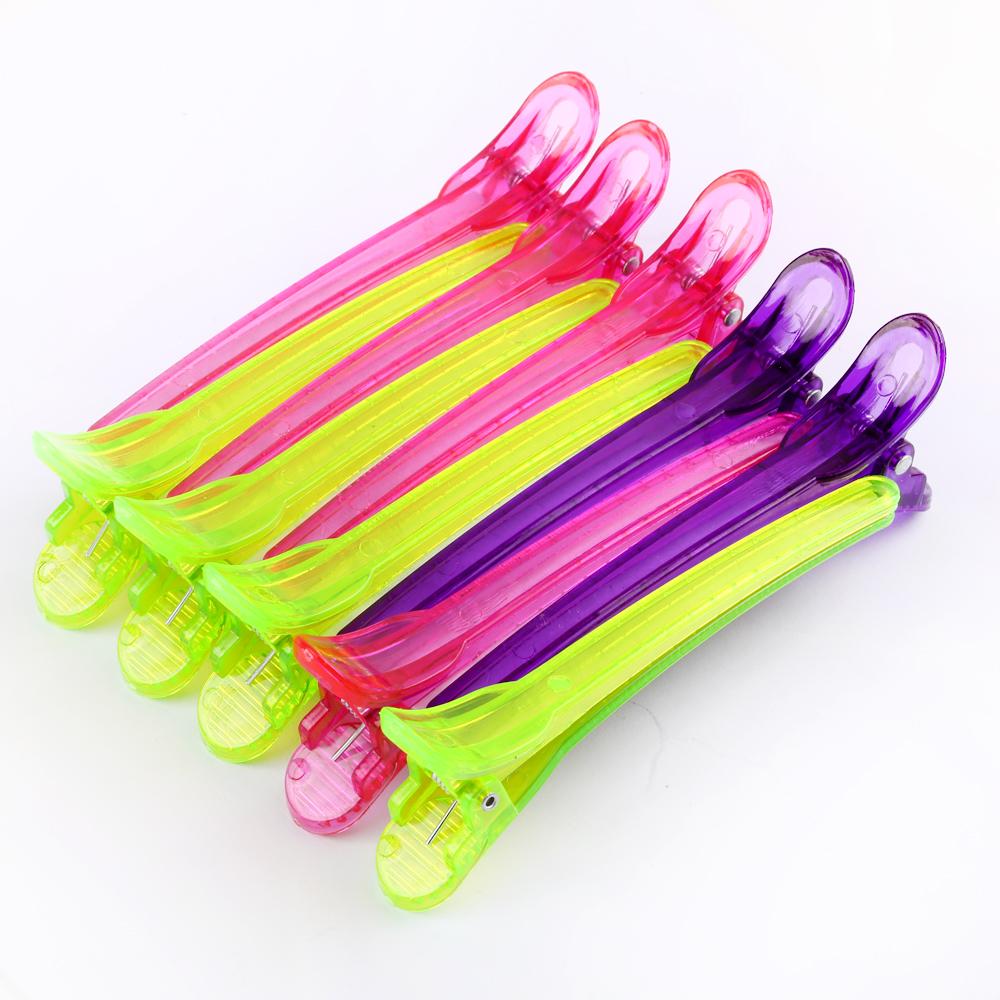 Abteilklammer Haarklammer Friseur 10 Stück 3 Farben