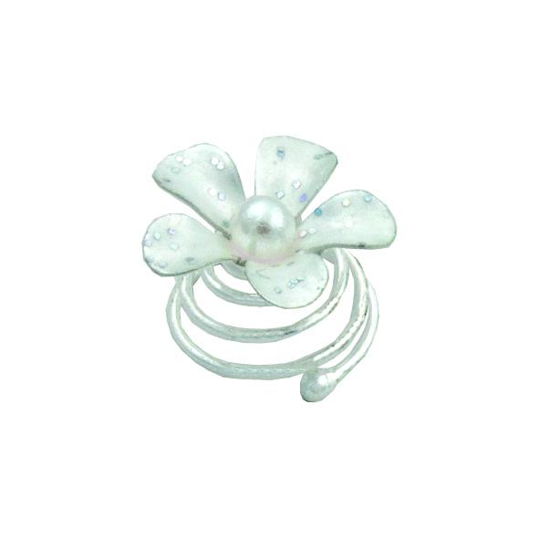 Brautschmuck Curlie Curlies Blüte Perle, 6er Pack