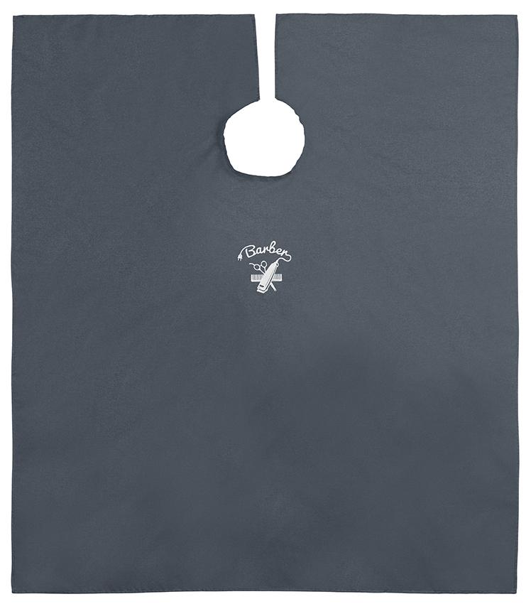 Umhang Barber Denim 144x140cm,    Hakenverschluss, Polyester, Stickerei