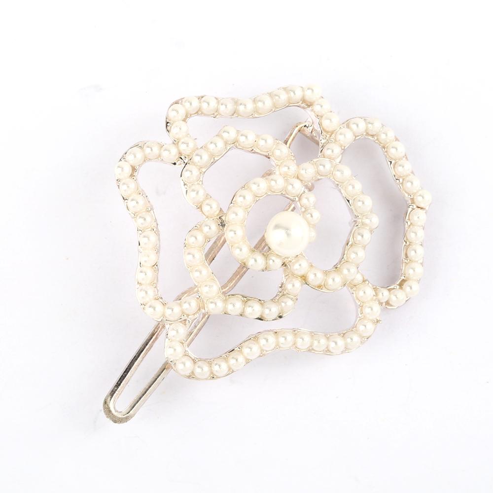 Haarschmuck Haarklemme Schön Perle Blume