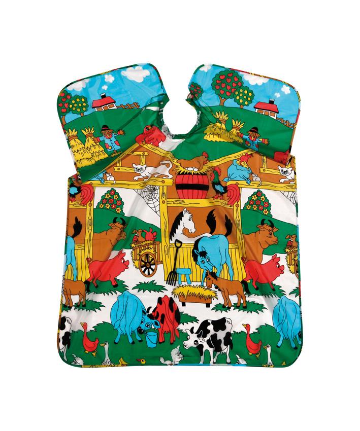 Umhang Kinder Animal Farm         Polyester mit Band 90x125cm
