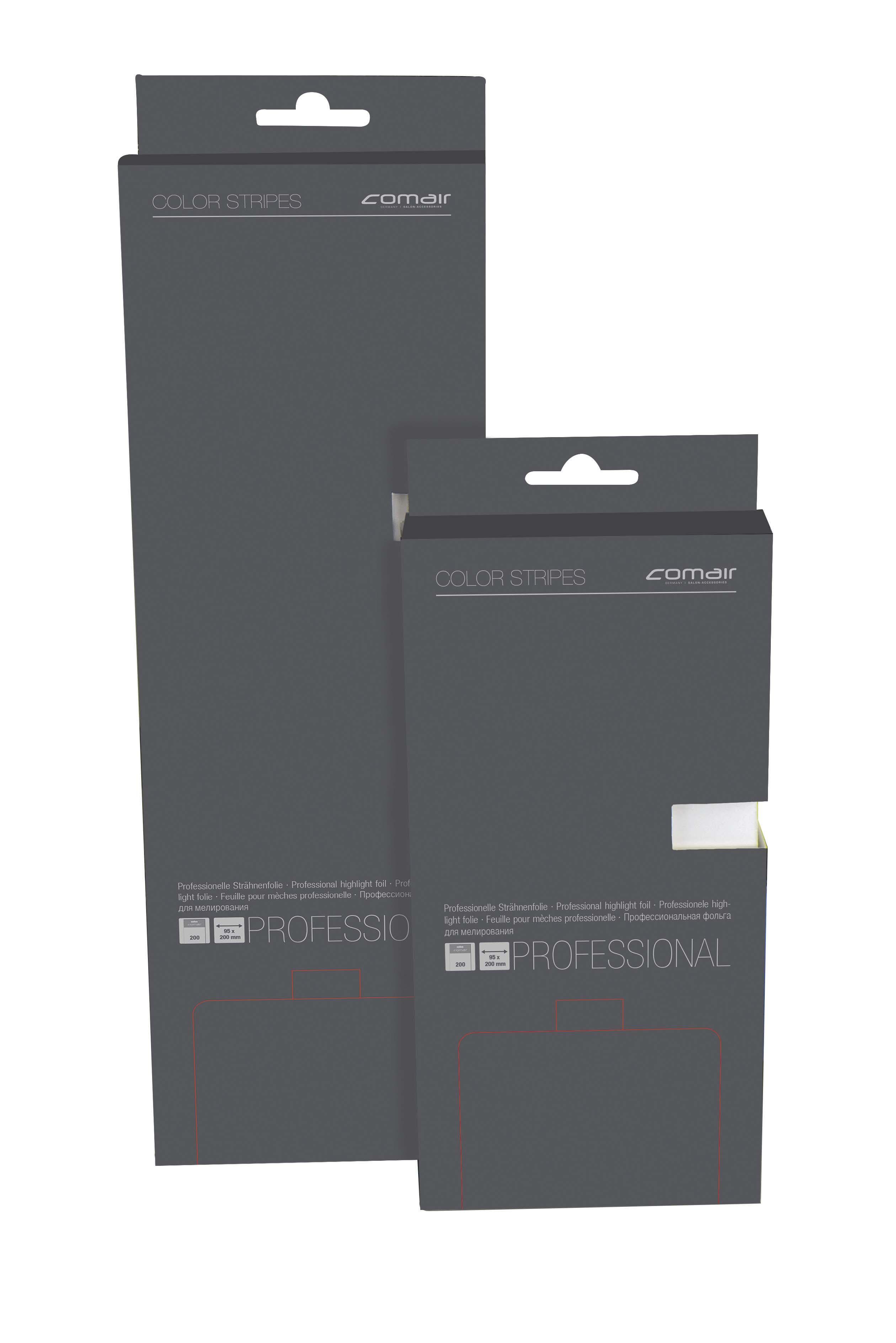 Color Stripes kurz 95x200 mm, 200 Stück silber