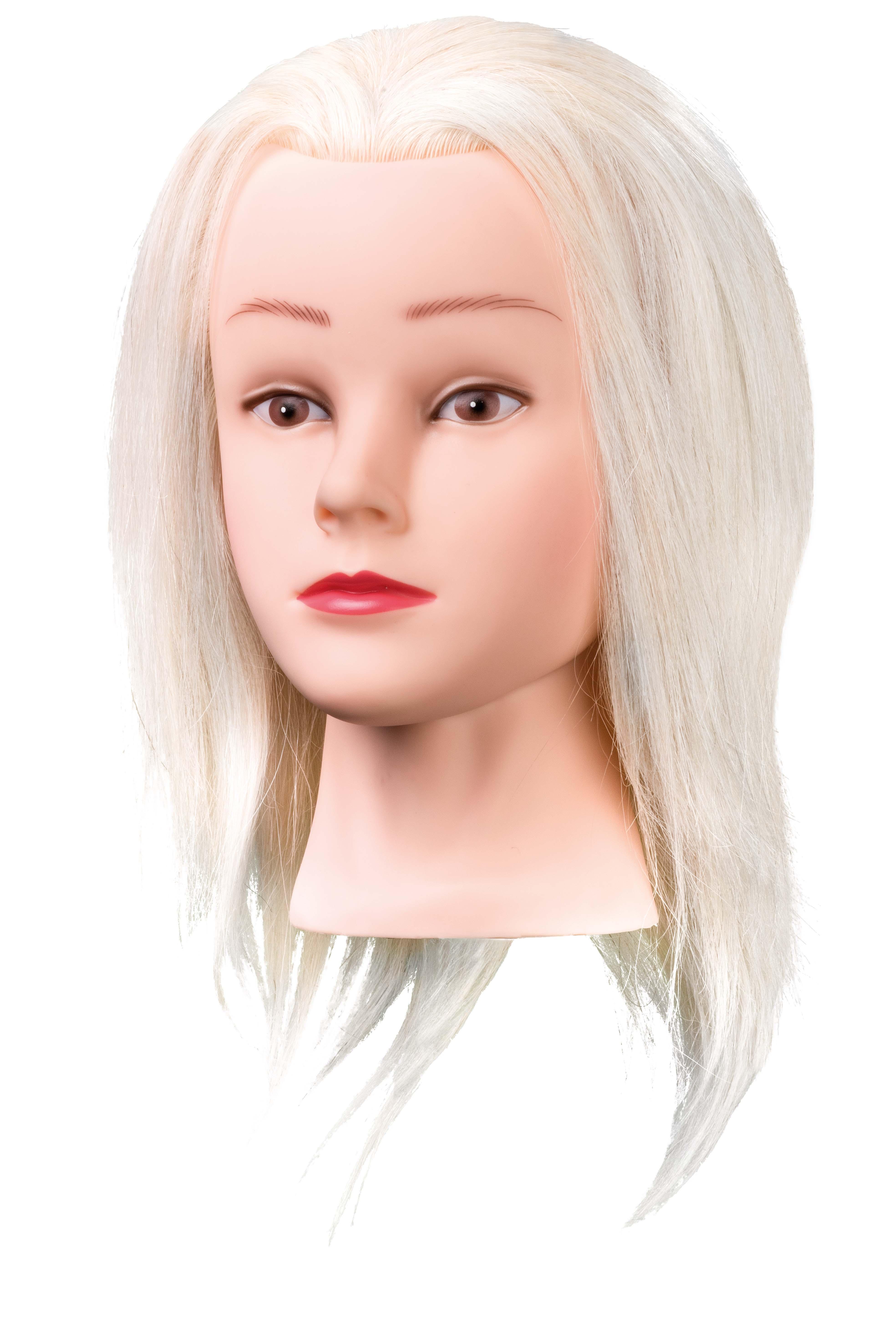 Üb.kopf Mary 25cm weißes Angora   Ziegenhaar Übungskopf