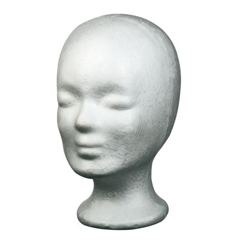 Schaumstoffkopf weiß 25,5cm