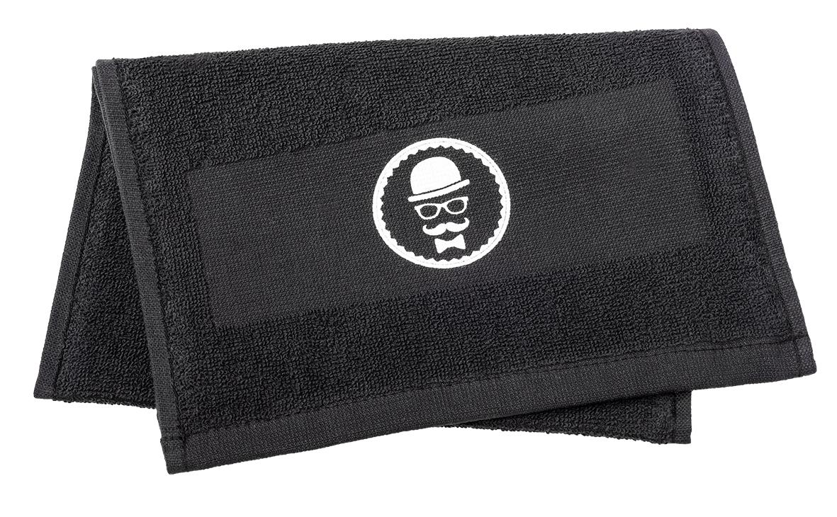 Barber Handtuch schwarz 25x70cm   360gr/m2, 100% Baumwolle Rasierhandtuch