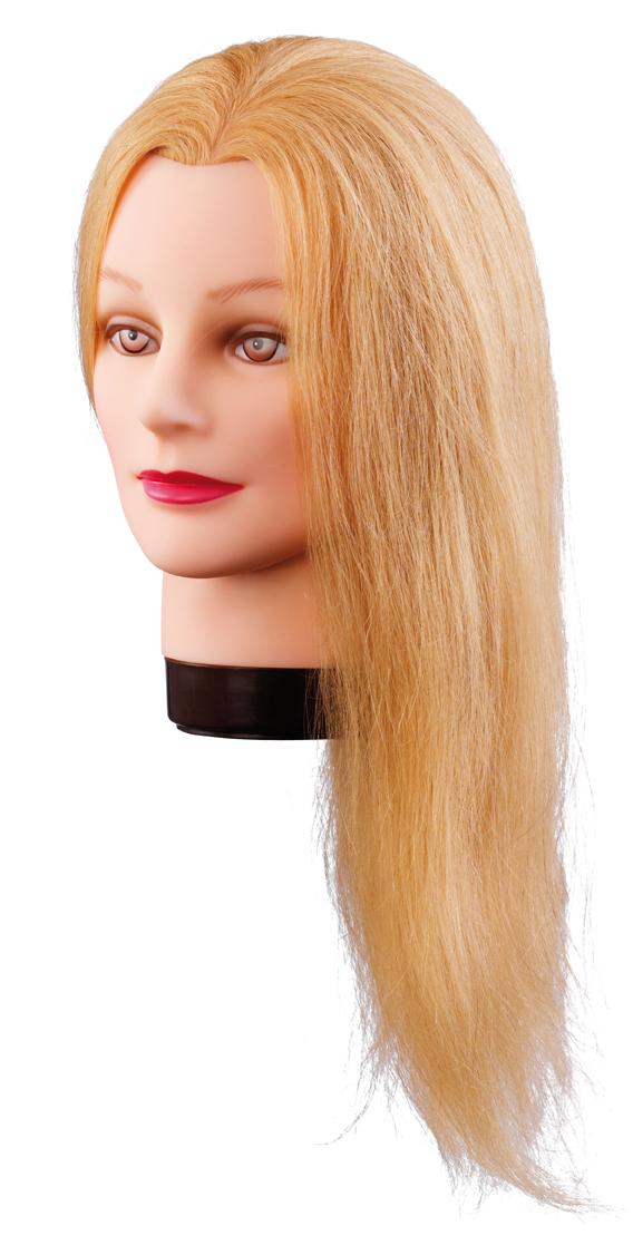 Üb.kopf Lilly 40cm blond Echthaar Übungskopf
